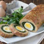 Polpettone ripieno di spinaci e uova sode