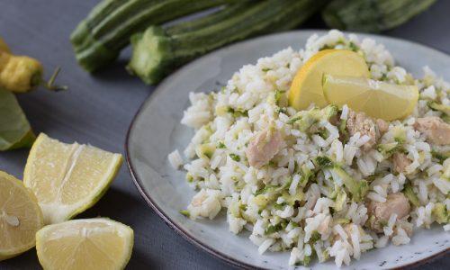 Insalata di riso con zucchine tonno e limone