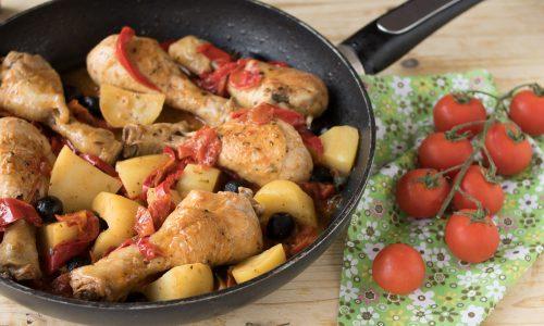 Fusi di pollo alla mediterranea