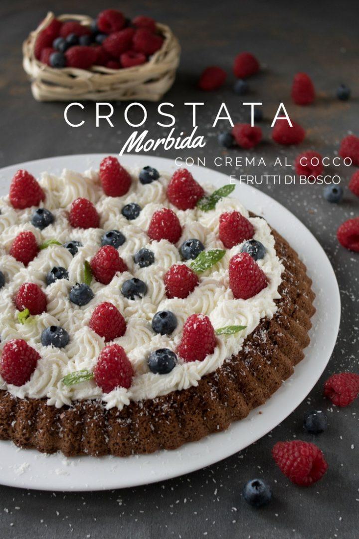 crostata morbida al cioccolato con crema al cocco
