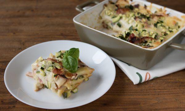 Lasagne di pan carrè e zucchine