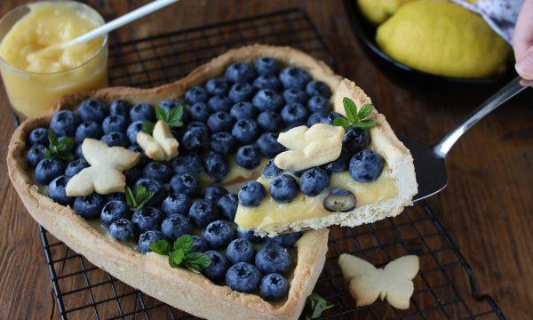 Crostata al lemon curd e mirtilli