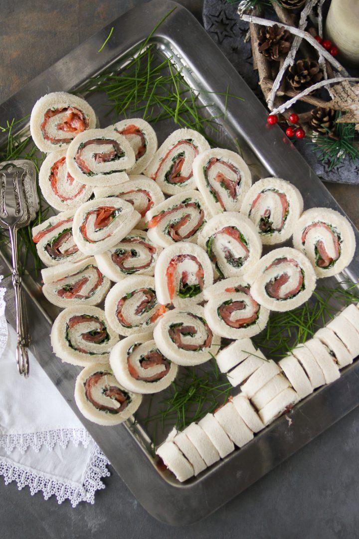 alberello di tartine al salmone