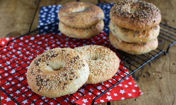 Bagels con lievito naturale