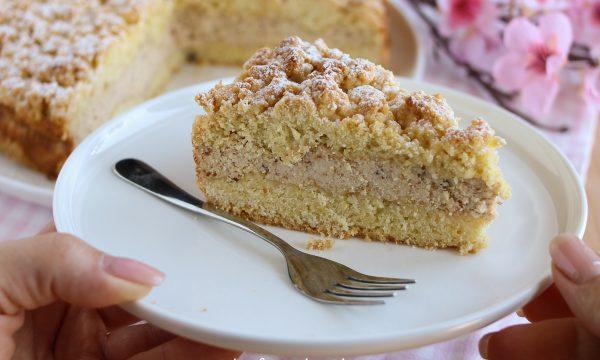 Torta sbriciolata ricotta e amaretti