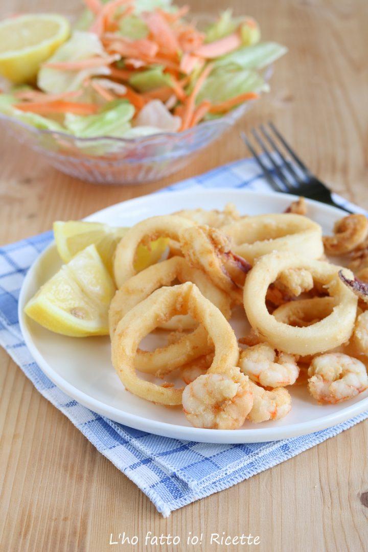 Frittura di calamari dorata e asciutta