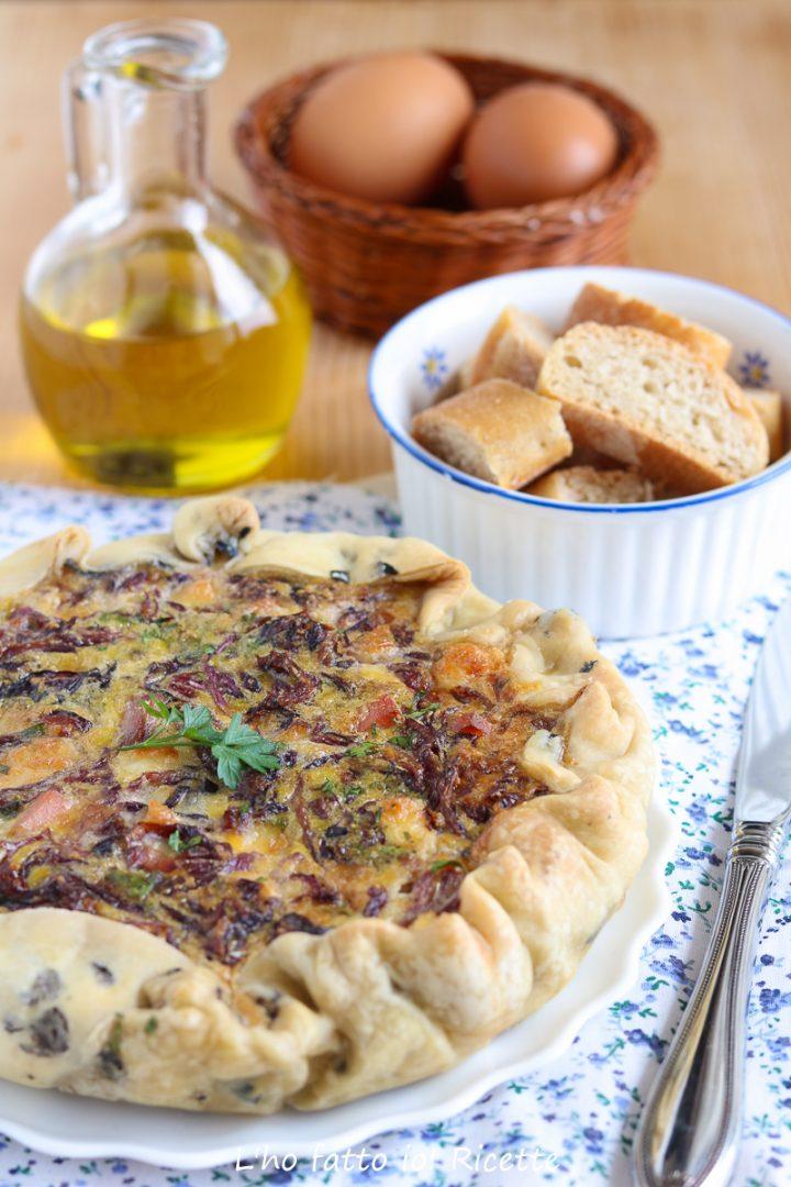 torta salata al radicchio