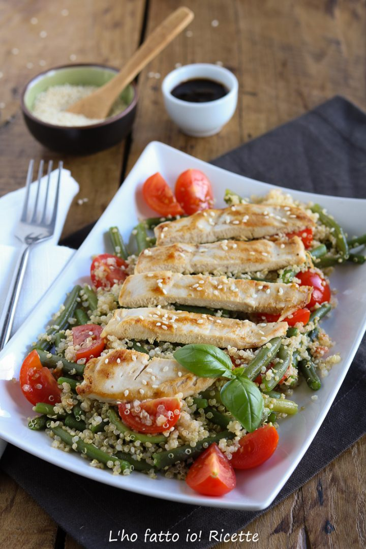 Ricette Con Quinoa Pollo E Verdure.Quinoa Con Pollo E Fagiolini Piatto Unico Light L Ho Fatto Io Ricette