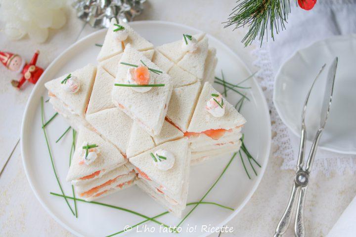 stella di tartine al salmone