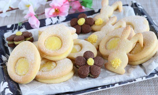 Biscotti Uova con crema al burro e limone