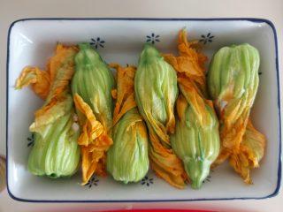 fiori di zucchine ripieni al forno