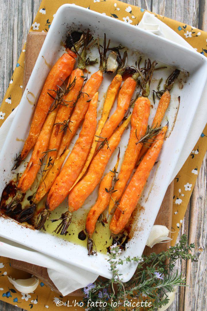 carote al forno aromatizzate al miele