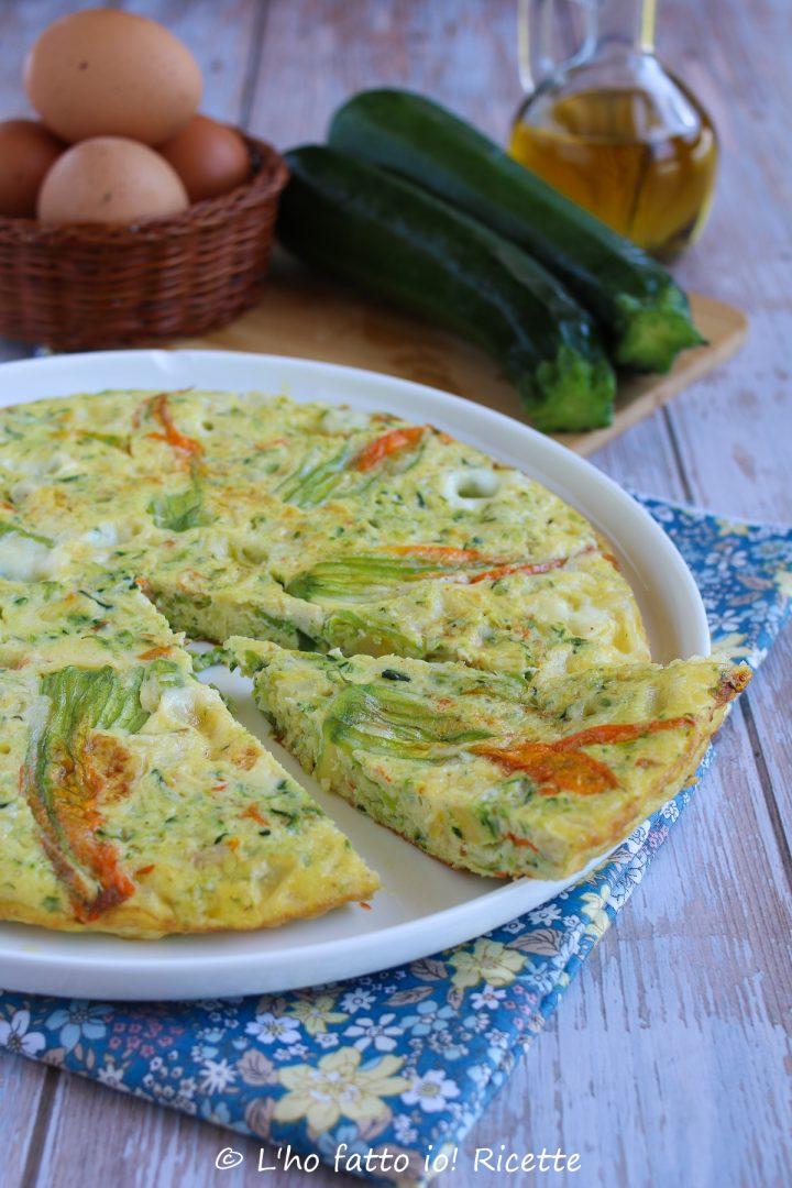 frittata con fiori di zucchine o zucca