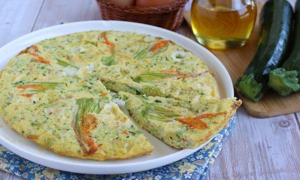 Frittata con i fiori di zucchine o zucca