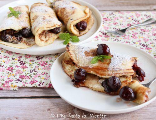 Pancakes alle ciliegie o Kirschpfannkuchen