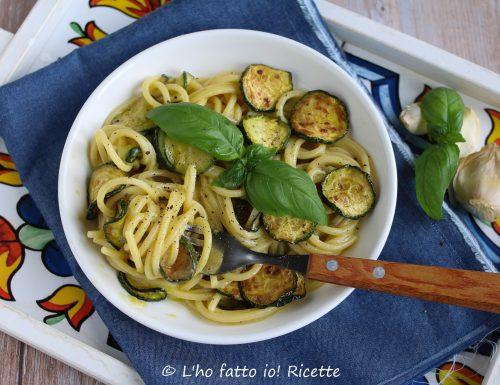 Spaghetti con zucchine alla Nerano cremosi
