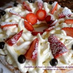 Ciambellone di choux con crema di mascarpone all'arancia