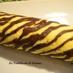 Rotolo zebrato farcito alla marmellata di ciliegie