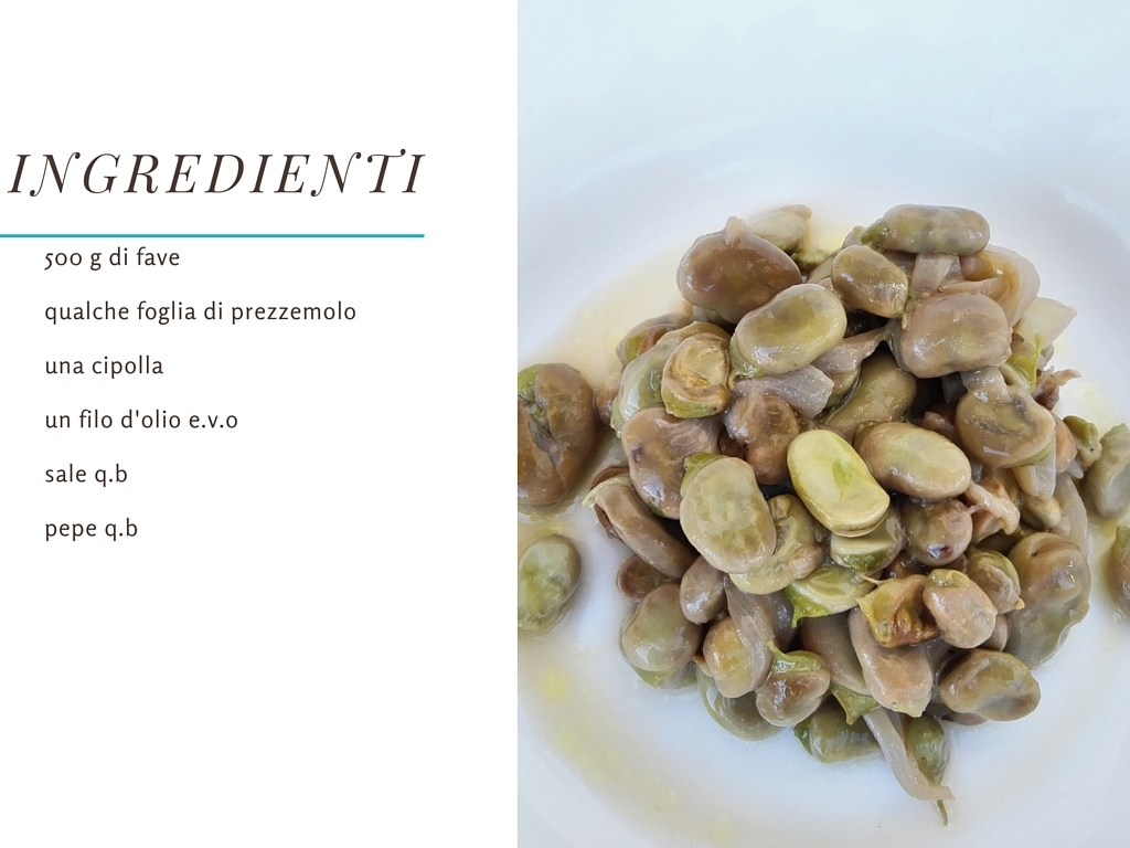 ingredienti fave al verde