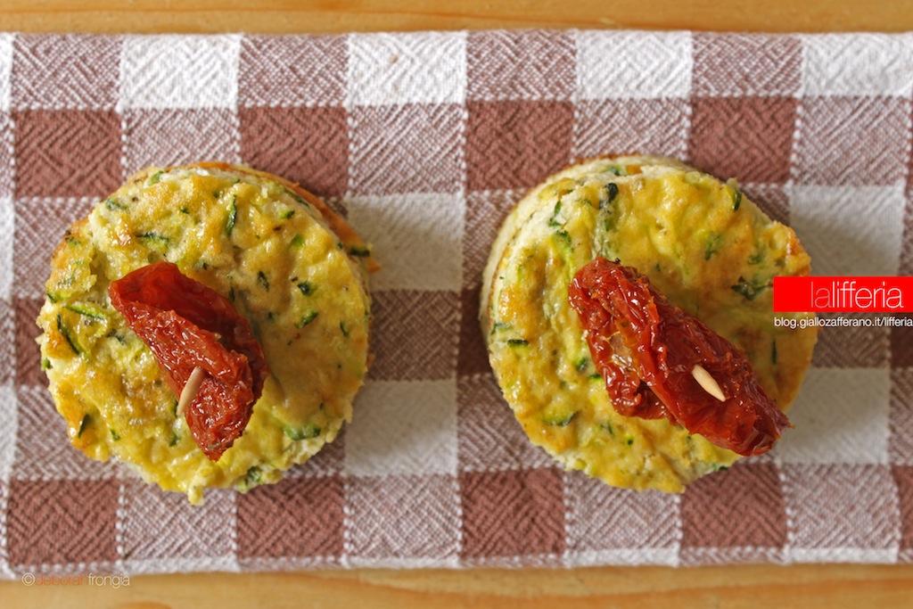 Frittata di zucchine con pomodori secchi