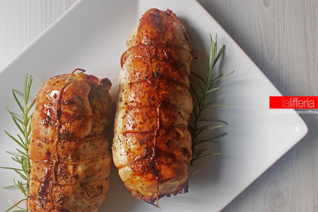 Petto di pollo farcito al forno