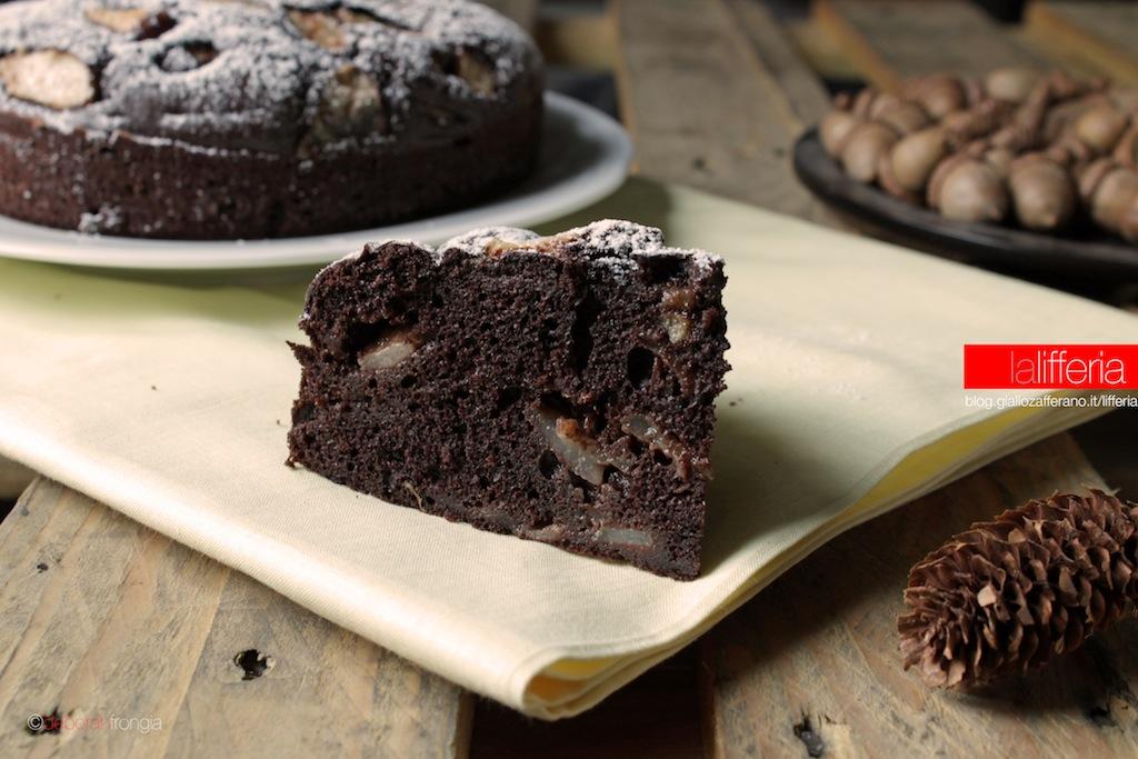Torta al cacao e pere