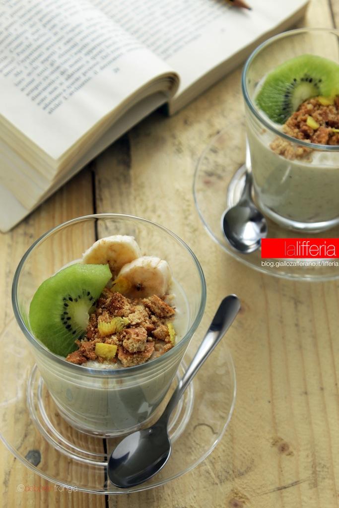 Dessert alla banana e kiwi