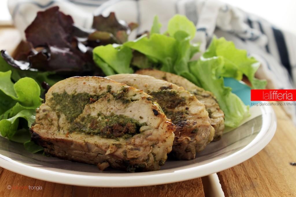 Filetto di maiale ripieno con spinaci e formaggio