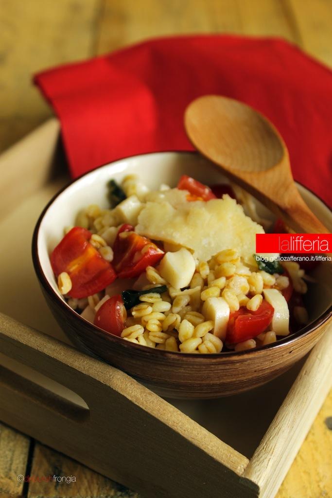 Insalata di grano al doppio Parmigiano Reggiano