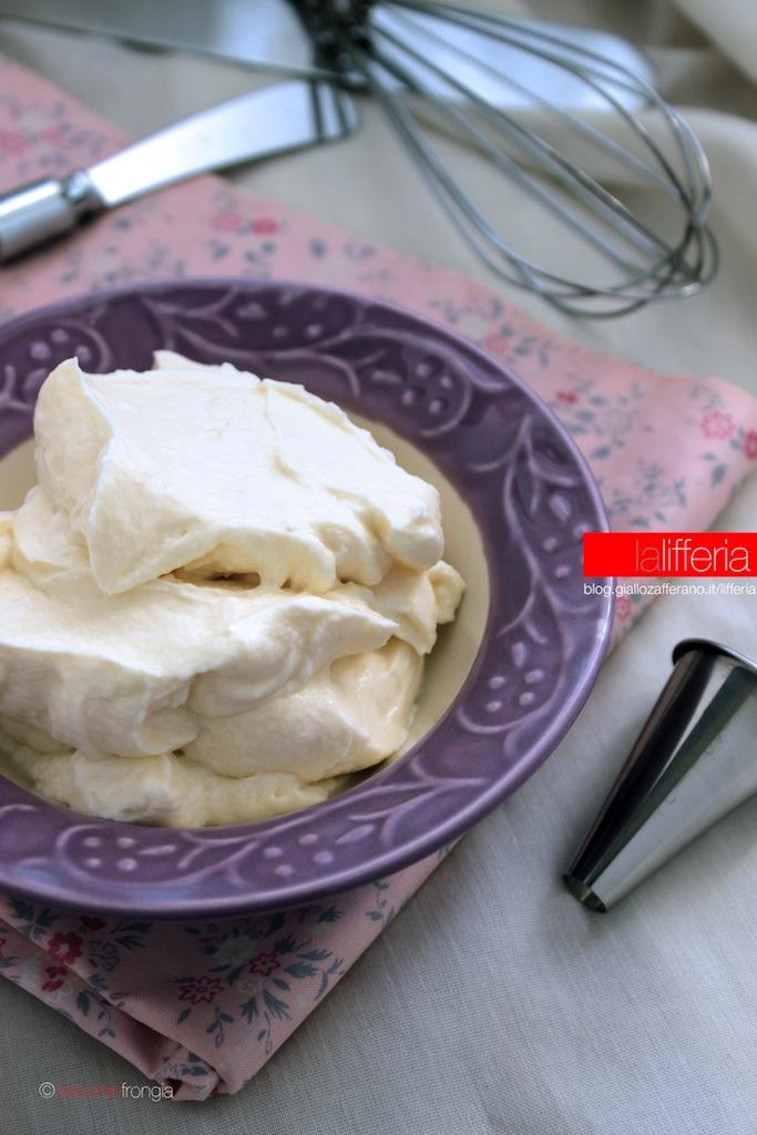 Crema di mascarpone senza uova