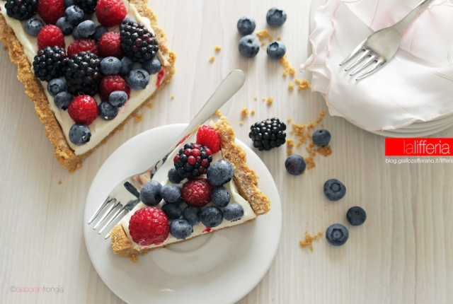 Crostata alla frutta senza cottura