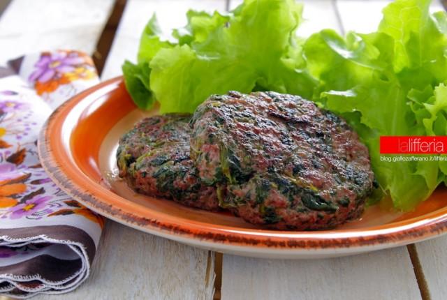 Hamburger con spinaci senza uova