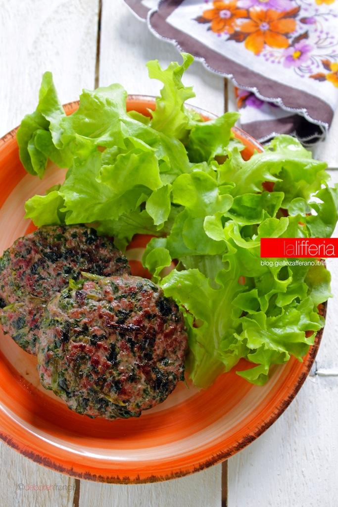 Popolare Hamburger con spinaci senza uova KB17