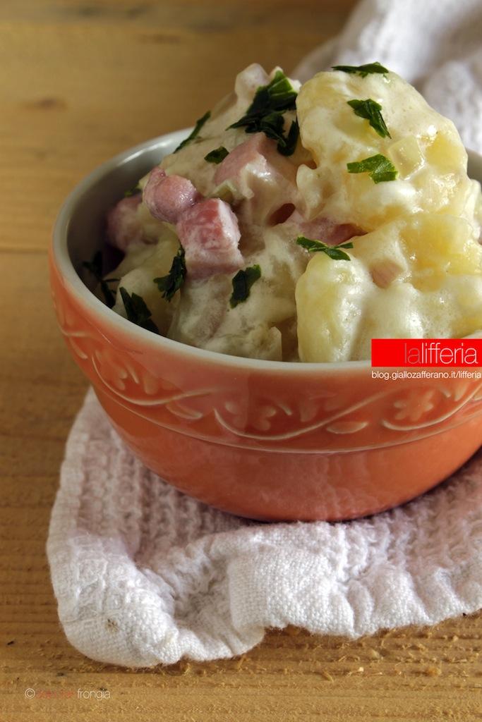 Gnocchi di patate con pancetta e panna