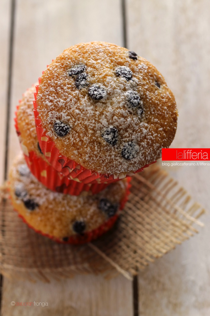 Muffin al cocco con gocce di cioccolato