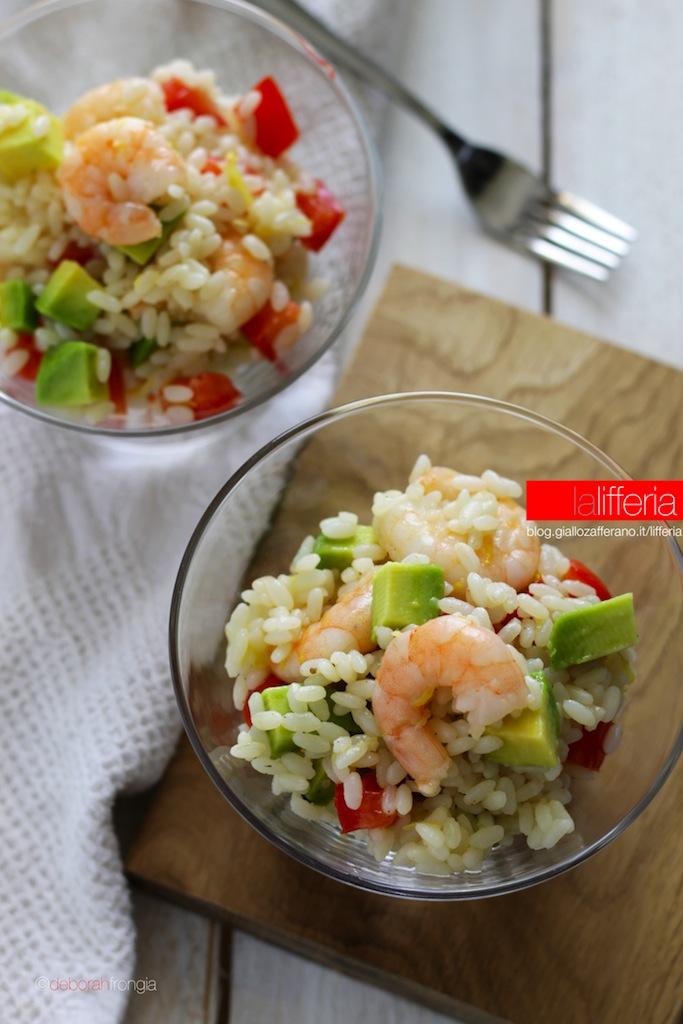 Insalata di riso con gamberi e avocado Ricetta insalate di riso