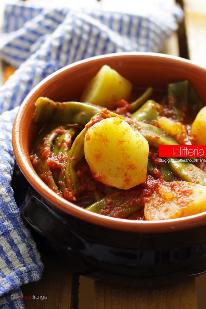 Taccole e patate in umido vegan