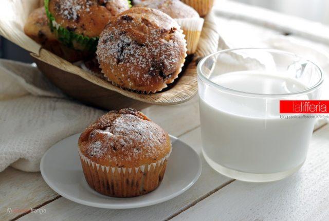 Muffin alla banana e cioccolato fondente