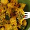 Pollo allo zafferano e broccoli