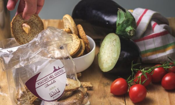Friselle melanzane pomodorini confit olive