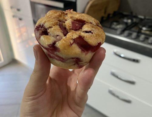 Muffin con fragole e yogurt
