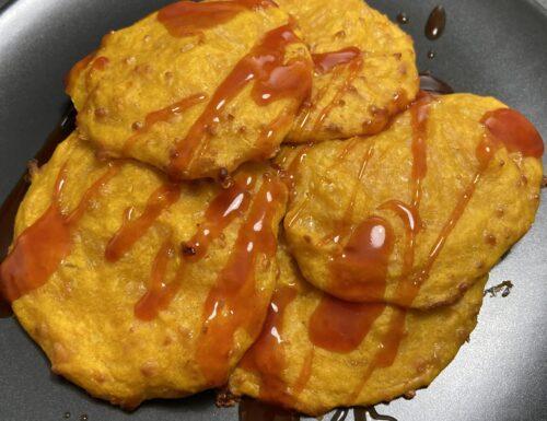 Frittelle di zucca cotte al forno