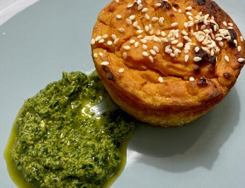 Muffin alla zucca con salsa verde Reggiana