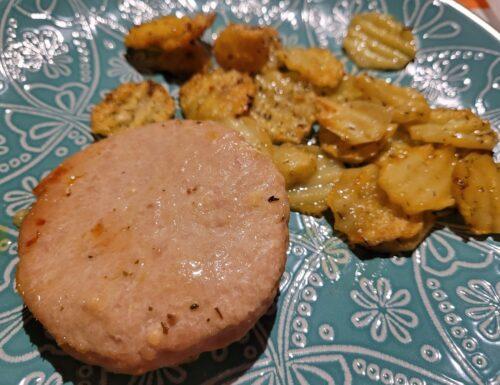 Hamburger al Forno con Chips di Patate