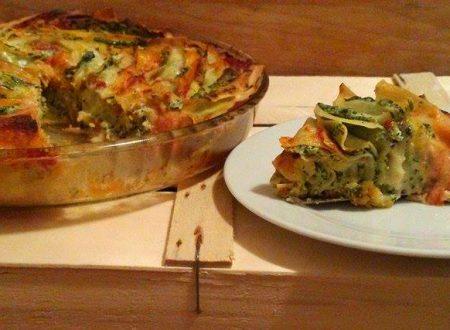 Girandola di pasta fresca al forno ripiena, facile e veloce