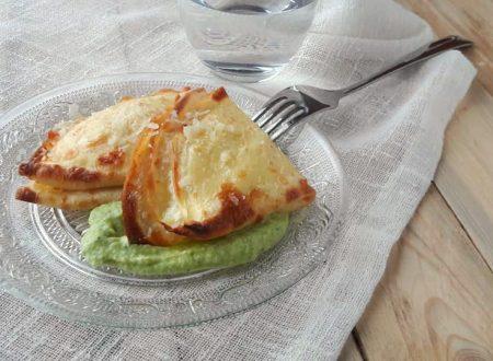 Crepes burrata e crema di zucchine al basilico
