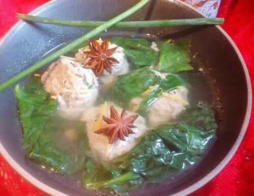 Polpette di carne con pesce, al sapore orientale