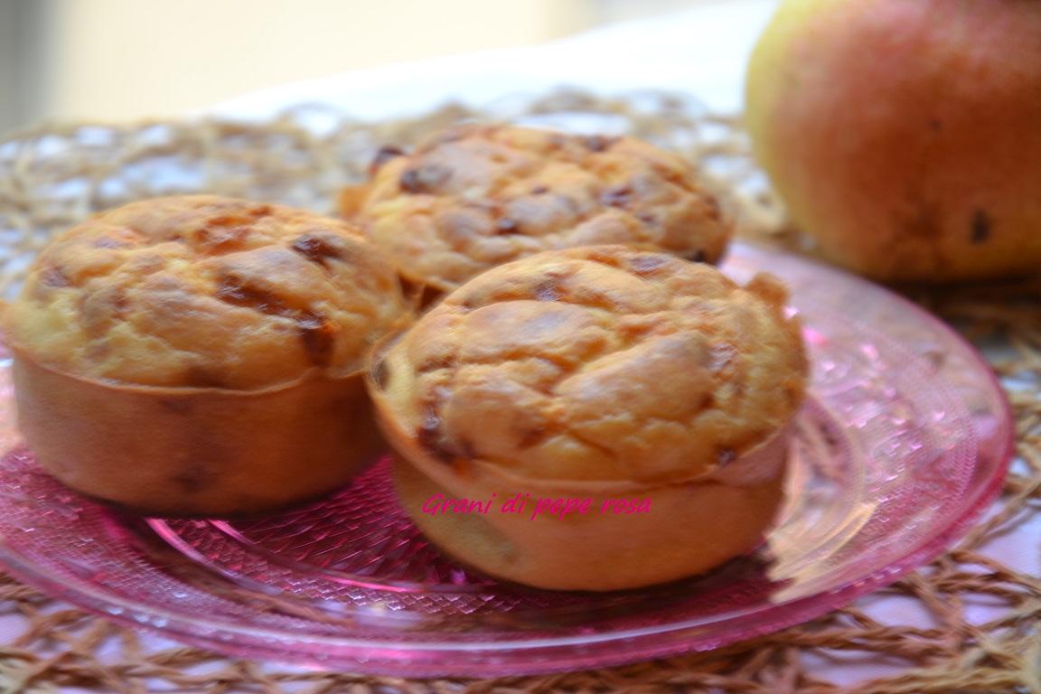 muffin pere e caciotta