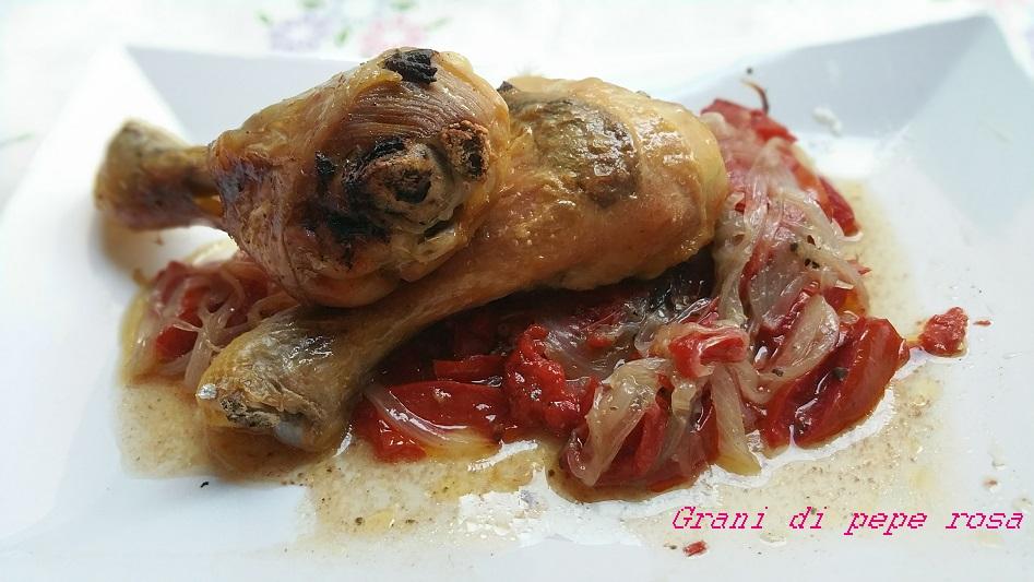 Cosce di pollo al cartoccio con pomodorini e salvia