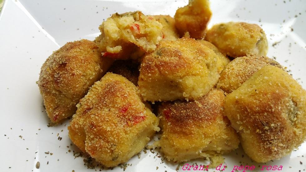 polpette di patate friggitelli e verza al forno